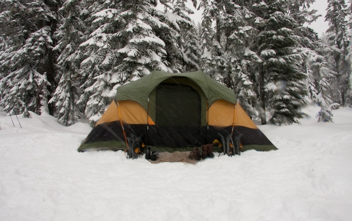 Camping Tent in Snow