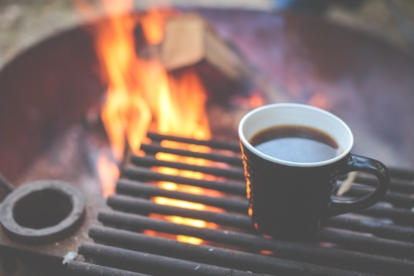 Heating Coffee on a Grill